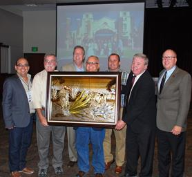 This artwork was presented by the Poncitlán Sister City group to Palmdale.
