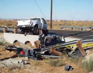 The driver of the PT Cruiser died at the scene. (LUIS MEZA)