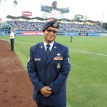 Local NCO honored by Dodgers