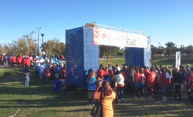Hundreds gather at the start line at last year's local Heart Walk at Marie Kerr Park in Palmdale. (Contributed photo)