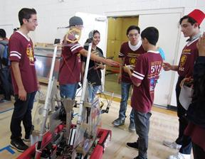 The Academy robots received the highest combined scores of the competition.