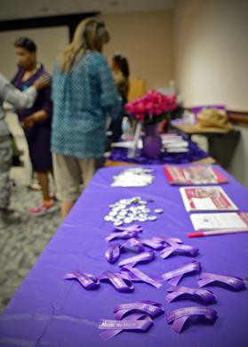 The interactive workshop was held in conjunction with Domestic Violence Awareness and Prevention Month.