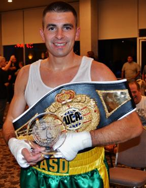 After three, two-minute rounds, Matt Pereida took the title with a unanimous decision! (Photo courtesy LASD)