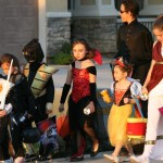 Trick-or-treaters should always be in groups so they are not a tempting target for predators; and parents should accompany young children, Palmdale city officials warn.