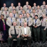 Five personnel from the Lancaster Station and a 66-year-old local grandmother were among those honored for bravery and heroism at the Sheriff Department's annual Valor Awards Ceremony Thursday, Oct. 2, 2014. (Photo courtesy LASD)