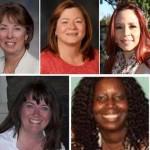 (Top, L to R) Gwen Ferrell, Dianne Knippel, Denise Latanzi, Nardy Lopez, Joanna Mitchell (Bottom, L to R) Lisa Moulton, Traci Scott, Sheyla Walker, Diane Walker.