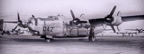 A B-24 parked at Muroc Army Airfield (now Edwards Air Force Base) around 1943 to 1944. (Courtesy photo provided by Air Force Test Center History Office)