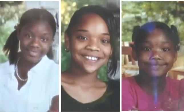 (L to R) - Ebony Horton, 13, Melinda Harris, 11, and Kayla Clark, 9, and their mother Sonya Durfield Harris (not pictured) were found dead in their burning home on Sept. 9, 2008.