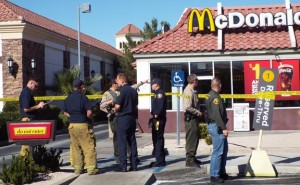 About 15 to 20 patrons were inside the restaurant at the time of the shooting, detectives said. (LUIS MEZA)