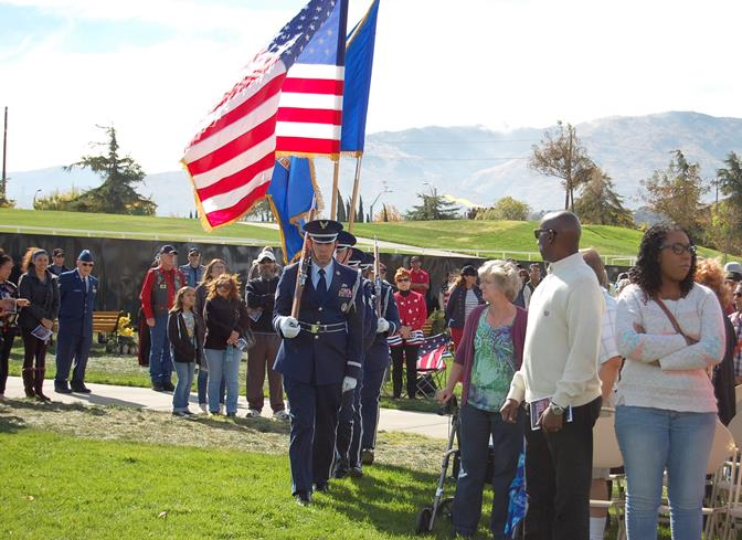 Blue Eagles Honor Guard conducted the Raising of the Colors.