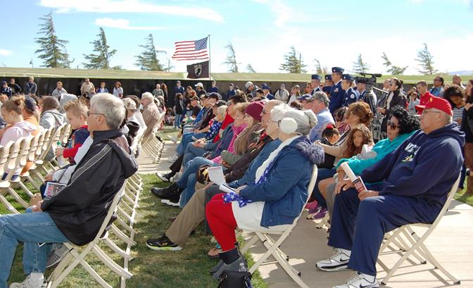 Palmdale's annual Veterans Day ceremony began at 11 a.m. at the Palmdale Amphitheater.