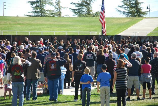 The Palmdale ceremony starts at 11 a.m. and is being held in conjunction with the display of the Mobile Vietnam Veterans Memorial Wall for the Antelope Valley (AV Wall).