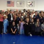 Attendees pose for a picture after completing the women's self-defense/ holiday safety seminar in 2012. (Photo courtesy William Robinson.)