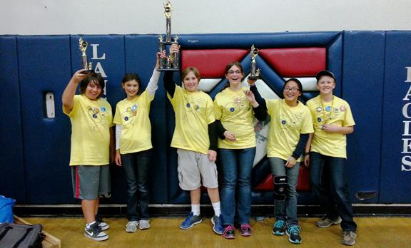Team 8989 Innovative Investigators, the first place winners of the High Desert Lego Tournament. (Contributed photo)