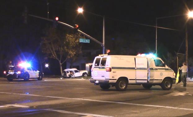 Traffic around Avenue K and 25th Street West was blocked off for several hours Friday night due to a triple fatal crash. (Photo by LUIS MEZA)