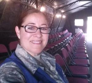 Air Force Senior Airman and Lancaster school teacher Veronica Lemus.