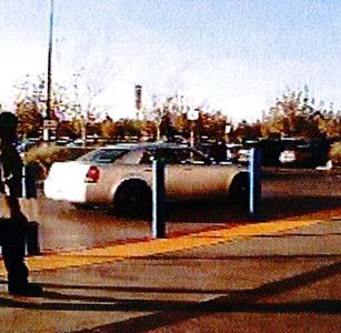 Video surveillance shows her driving away in a silver or gray Chrysler 300. (LASD)