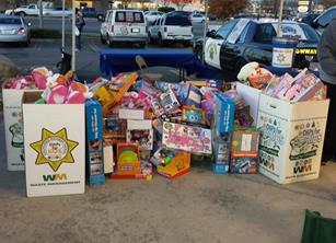 The hoped to collect 500 toys at Thursday's event to help in meeting the overall goal of collecting 6,000 toys by Dec. 22.