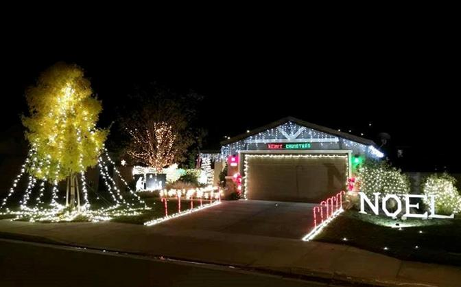 This home is located at 3052 East Lingard Street in Lancaster. Thank you, Aaron and Andrea for sharing your Christmas display.