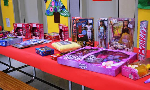 """Teachers, staff and community members pulled together to stock a """"holiday boutique,"""" hosted Manzanita Elementary School. More than 145 children in need will receive gifts from the boutique, all free of charge. (Contributed)"""