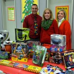 The boutique was the pet project of third grade teacher Jeff Pettipas (left), who led the campaign to collect new toys to be given away. (Contributed)