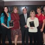(L to R) Benjamin Lucha, Larissa Nickel (Volunteer), Trish Jones, Mike Mischel, Cheryl Hughes, Lynn Glidden, and Kristin Holloway, proudly accepted Palmdale's two awards from the APWA High Desert Branch.
