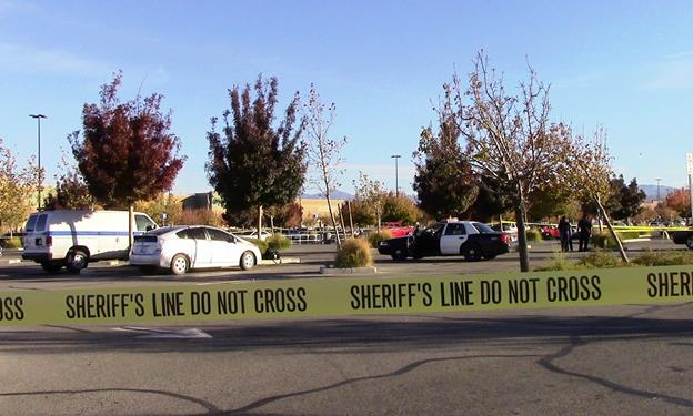 The body was found on the morning of Thursday, Nov. 27 inside a Toyota Prius in the Walmart parking lot at 40130 10th Street West in Palmdale. (Photo by LUIS MEZA)
