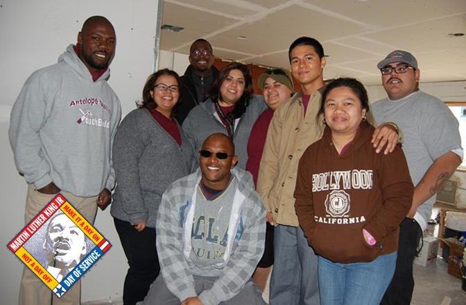 AV YouthBuild students and graduates (pictured) will join city staff and volunteers for a clean-up event at the Palmdale Dream Center on Saturday, Jan. 17, as part of the MLK Day of Service.