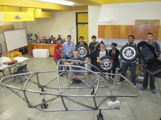 The electric car was built entirely by students at Knight High's DDE Academy using a $13,500 grant from the Antelope Valley Air Quality Management District. (Contributed)