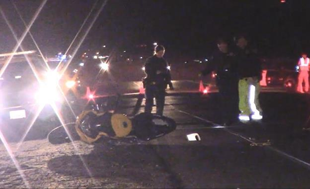 The fatal collision happened around 5:50 p.m. Sunday, Jan. 11, on Sierra Highway, just south of Avenue A. (Photo by LUIS MEZA)