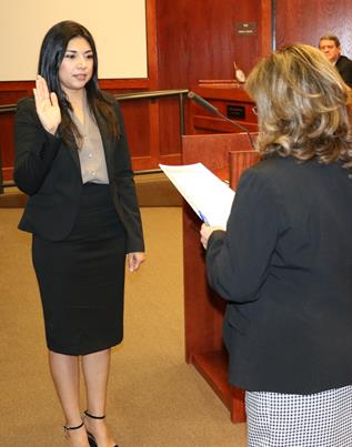 Roxana Martinez is sworn in Jan. 14.