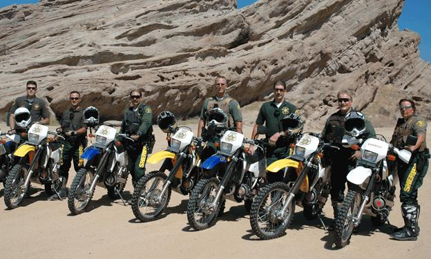 The Palmdale Sheriff's Station has an off-road enforcement team that dedicates over 48 hours a month to the Acton/Agua Dulce area. (Photo courtesy LASD)