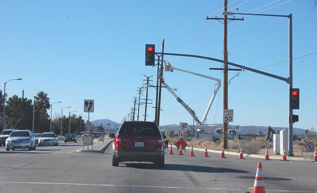 On Saturday, the signal at Rancho Vista Blvd. and Lockheed Way/8th St. East will flash red, so people traveling in the area may wish to give themselves a few extra minutes to allow for a slowing of traffic.