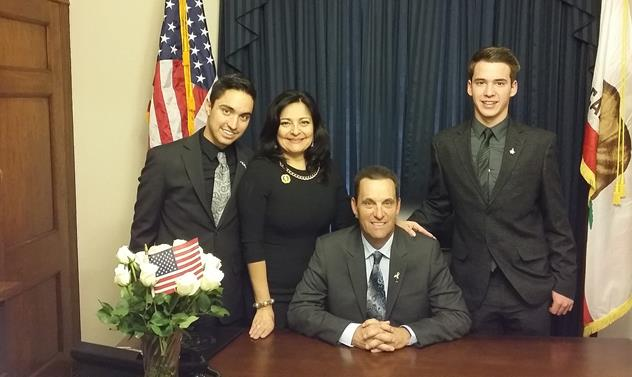 Steve Knight with his wife Lily and their two sons, Christopher and Michael. (Contributed)
