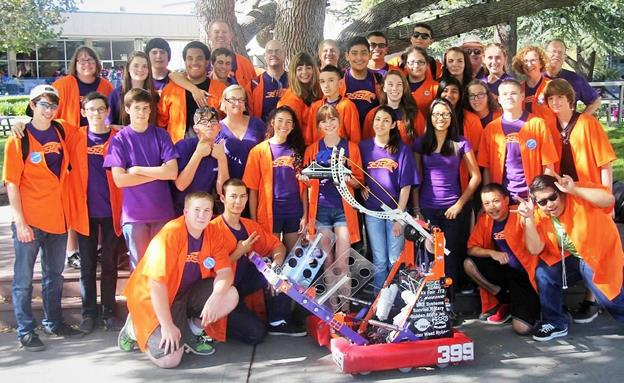 Team 399 Eagle Robotics group photo (Contributed)