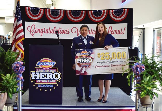 Air Force Senior Airman and Lancaster school teacher Veronica Lemus named the 2014 Dickies American Hero of the Year. Dickies American Hero of the Year campaign shines a spotlight on military members and their families, who continually make personal sacrifices for the betterment of our country. Lemus won $25,000. [Read the story here.]
