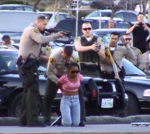 A passenger in the vehicle, 26-year-old Talisha Mitchell, was also taken into custody, officials said. (LUIS MEZA)