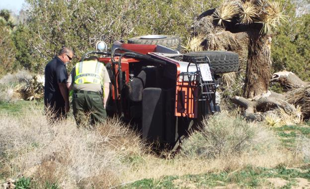 The driver was ejected from his 1969 Toyota Land Cruiser and killed when the vehicle rolled over following a mechanical failure, authorities said. (Photo by LUIS MEZA)