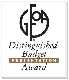 Palmdale Distinguished Budget Presentation award