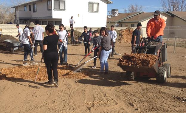 Service activities will include working on the community garden in preparation for spring planting, graffiti removal and debris clean up. (Contributed)