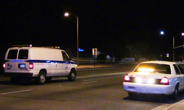 The incident happened around 10 p.m. Wednesday in the 1700 block of East Palmdale Blvd. (Photo by LUIS MEZA)