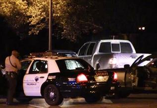 The chase ended near the intersection of Highland Avenue and Rancho Vista Boulevard. (LUIS MEZA)