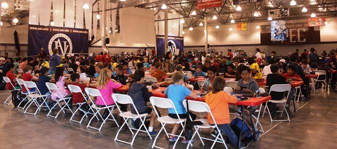The tournament at the Pioneer Event Center in Lancaster Saturday drew about 500 competitors of all ages, from as far as Colorado and Utah. (Photo courtesy UAV)