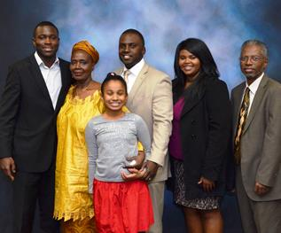 Simone Zulu  and her family. [Contributed]