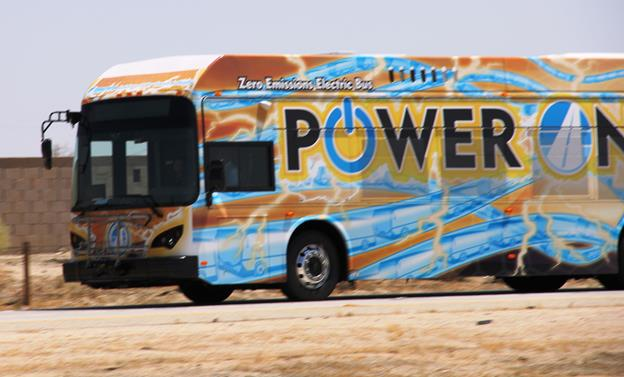 In 2014, the Antelope Valley Transit Authority purchased two battery-electric buses from BYD as part of its clean bus initiative. (Contributed photo)