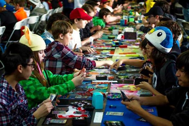 Sunday, Feb. 15, features the Community Expo and is the ideal day for general Pokémon fans, while Saturday, Feb. 14, is the day for competitors, according to organizer Kim Cary. (Past tournament photo taken by Josh Shock, courtesy Second City Gym.)