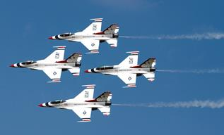 Boudreaux said that safety is first and foremost on everyone's minds when planning and preparing for their air shows, especially when the team is flying as fast as 650 mph at 200 feet above the crowd. (Contributed)