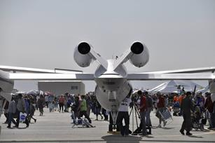 A large aircraft on display could be a rally point for a family or group to meet back up throughout the day.