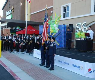 The grand opening ceremony featured the Highland High School Marching Band and ROTC. (Contributed)