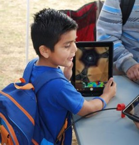 A student uses a Techmobile IPad. (Contributed)